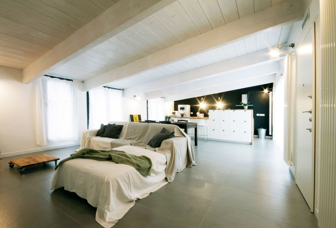 minimalist and partly industrial in style
