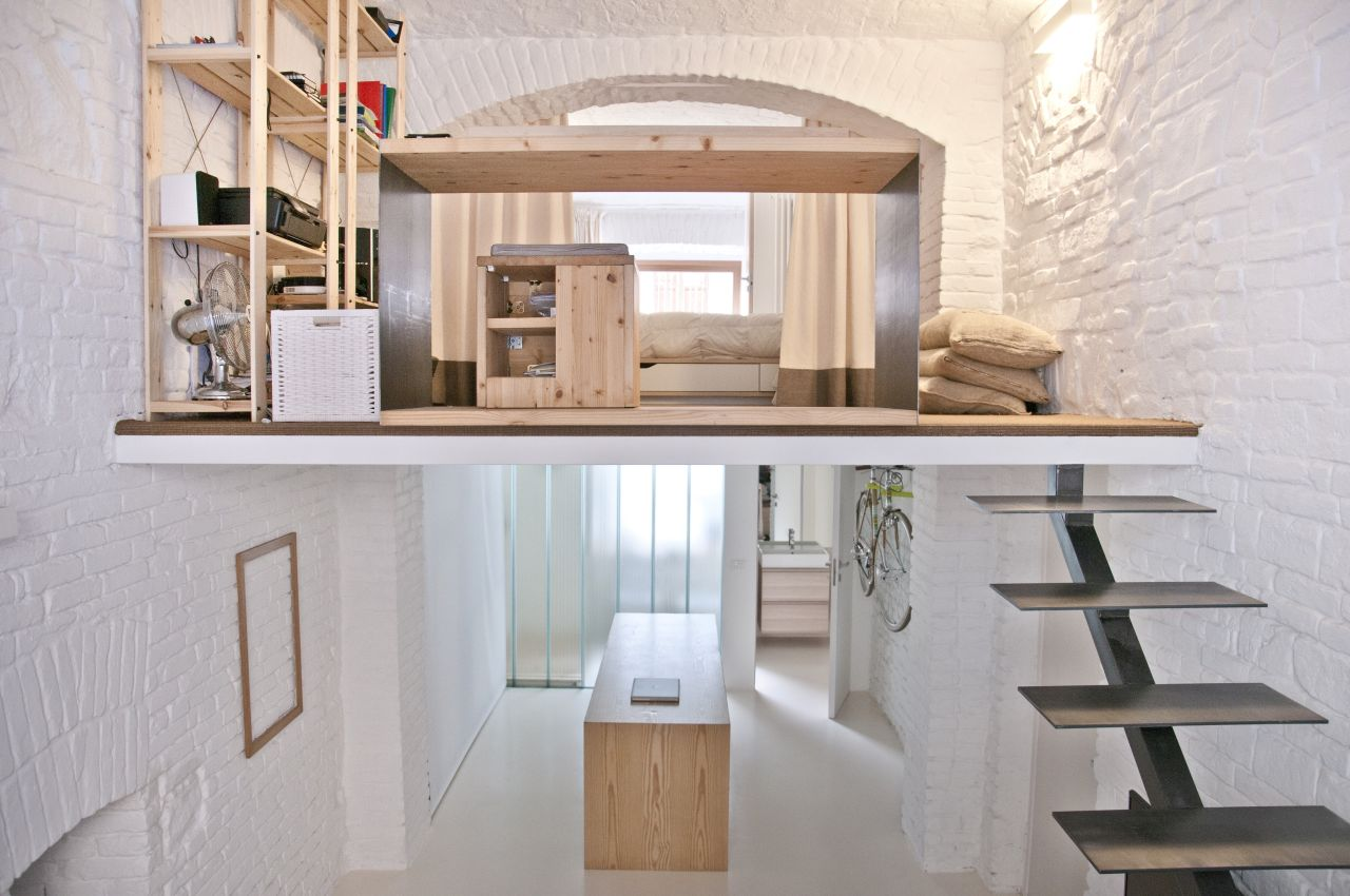 duplex apartment, live-work unit by 3r in Turin, view inside