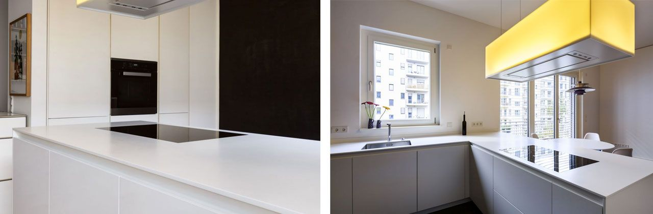 Cucina Varenna Poliform con top in Corian