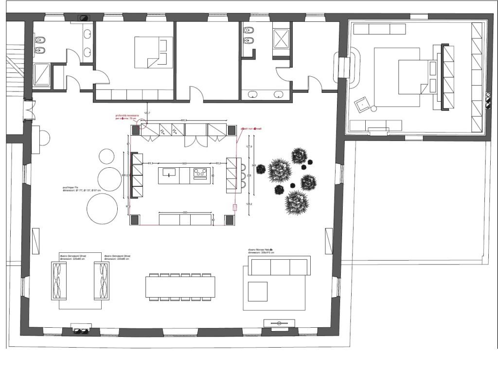 Floor plan and furniture layout. Photo: Courtesy Arredo Dal Pozzo