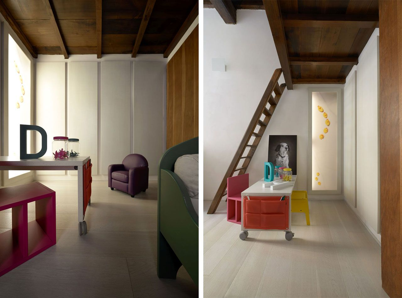 The kid's room with a mezzanine
