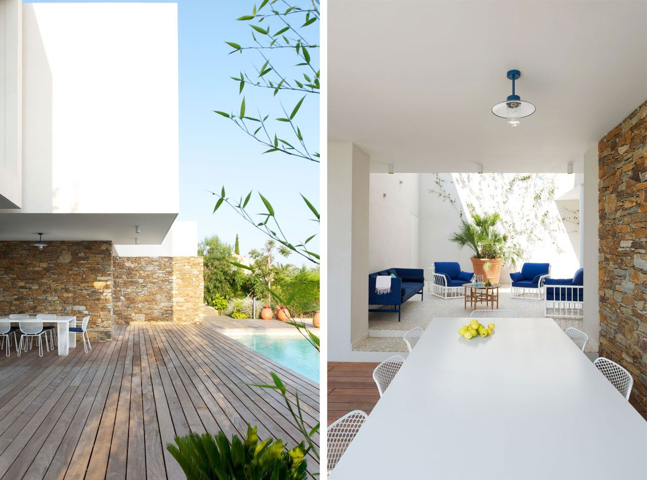 Outdoor furniture: IVY by Emu, next to the swimming pool