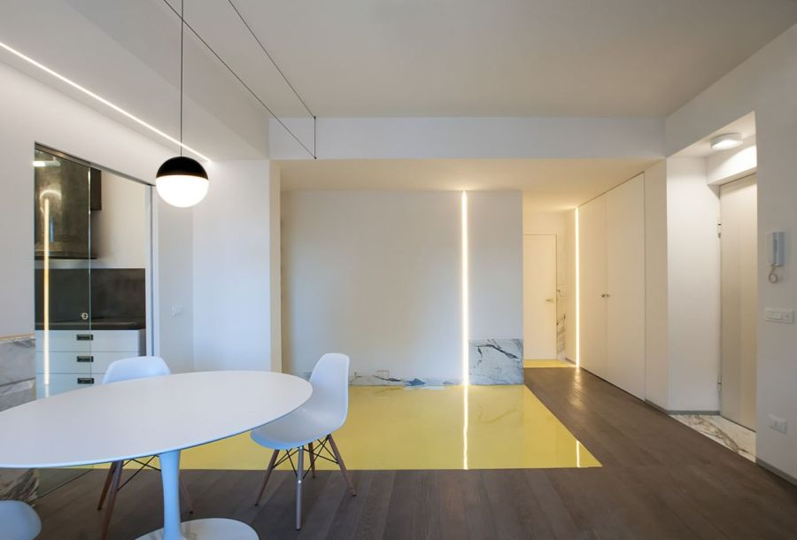 Bringing the sun inside, renovating an apartment on the Rome waterfront