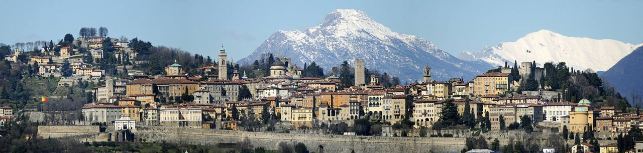 The skyline of Bergamo alta