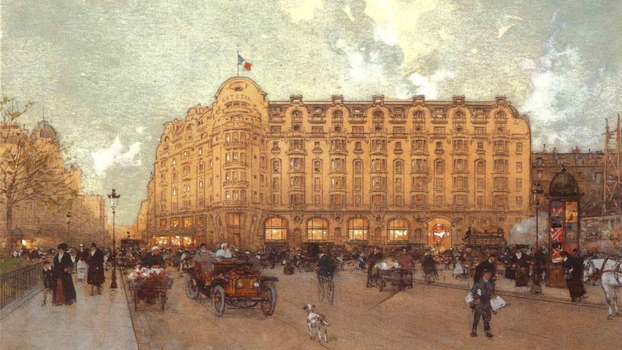 the Hotel Lutetia shortly after it opened in 1910