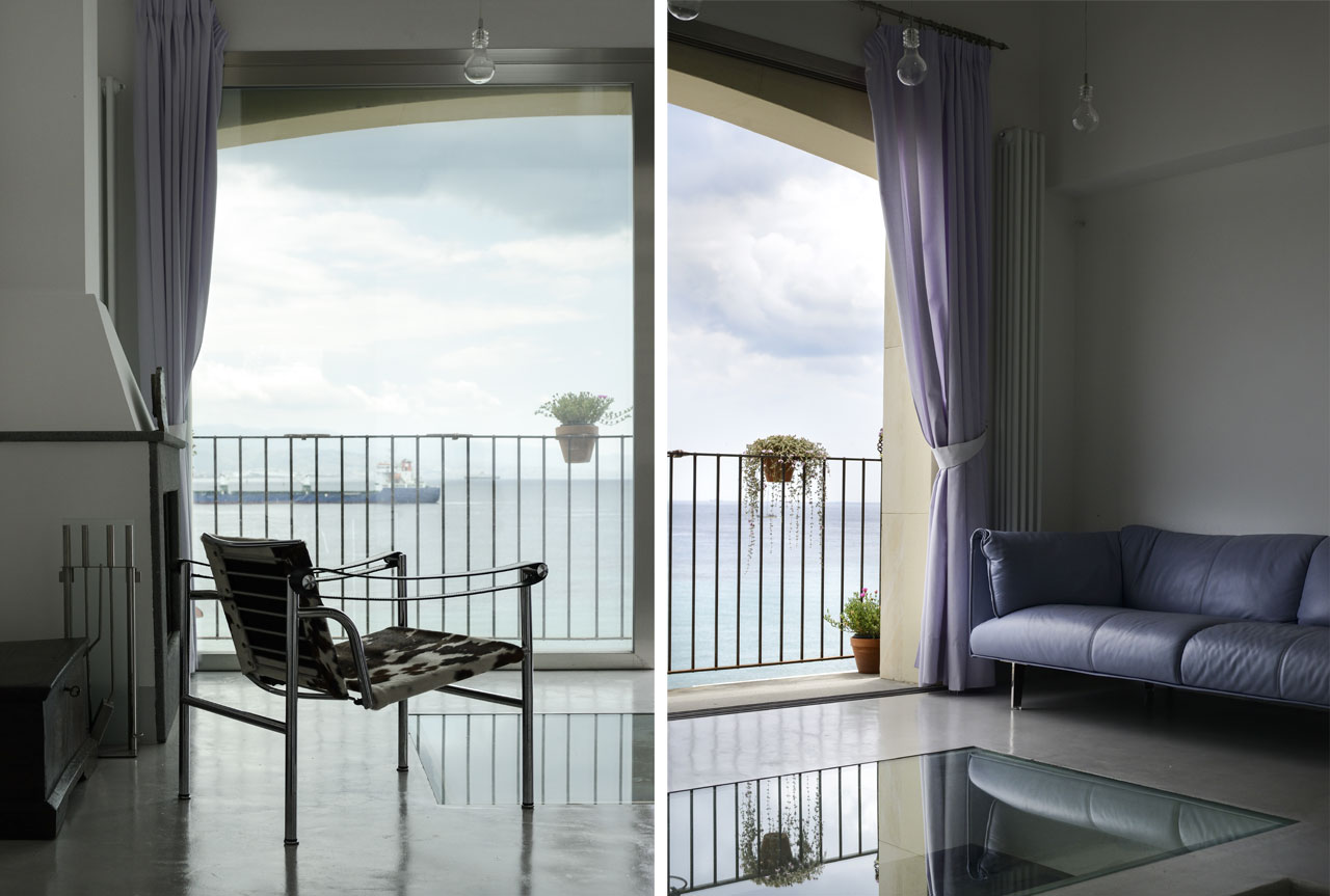The view of the Strait of Messina from first floor living room