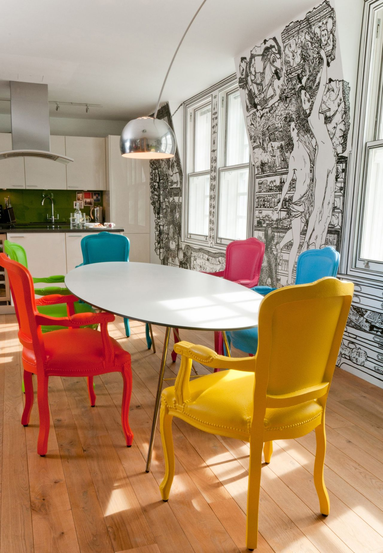 The Refurb Of A Central London Flat Pop Art Design Meets Mural