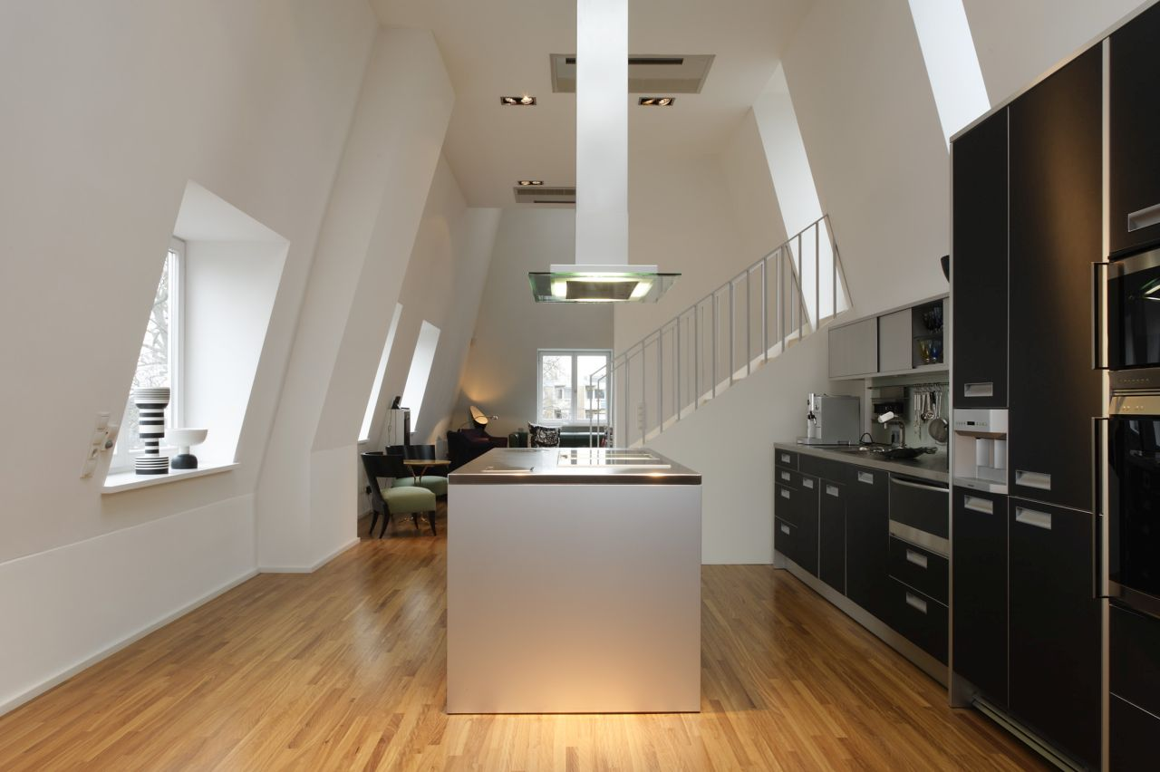 An attic conversion in Hamburg