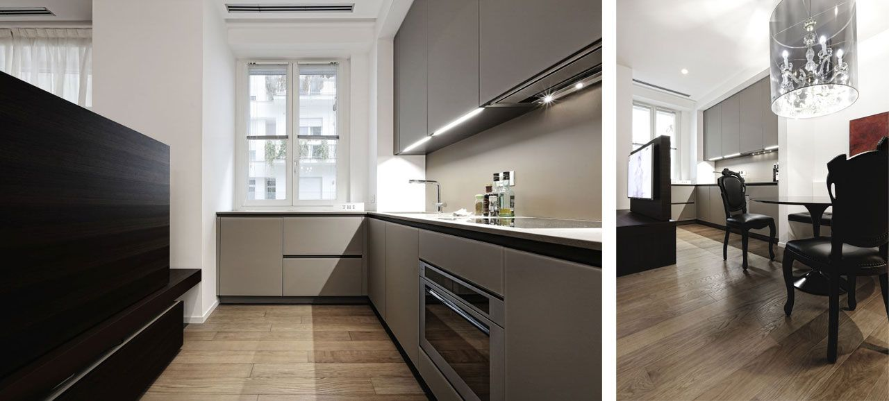 The kitchen Twelve by Varenna Poliform, clean and simple design