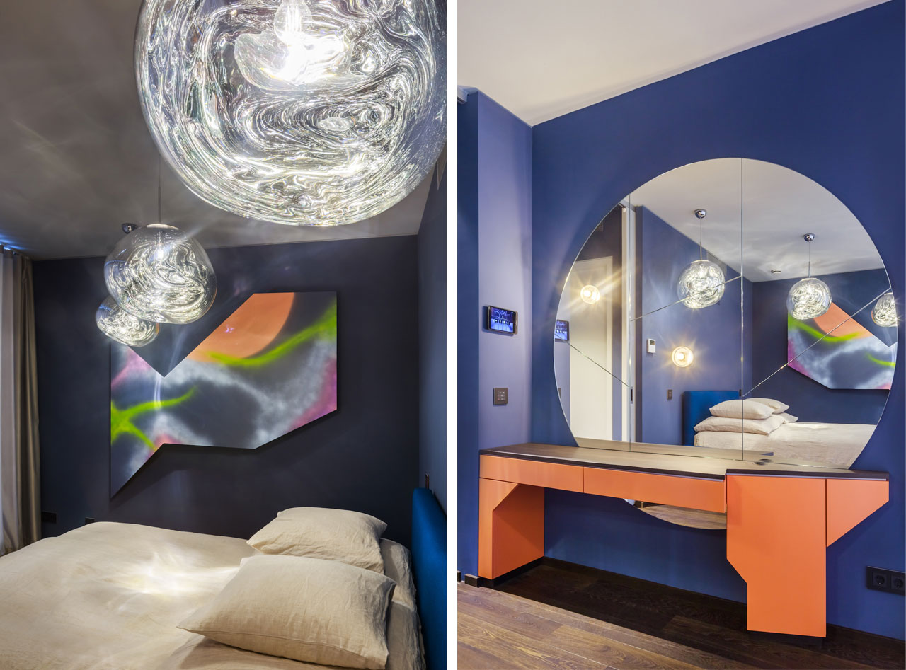 A futuristic-looking bedroom. Sapphire, Berlino