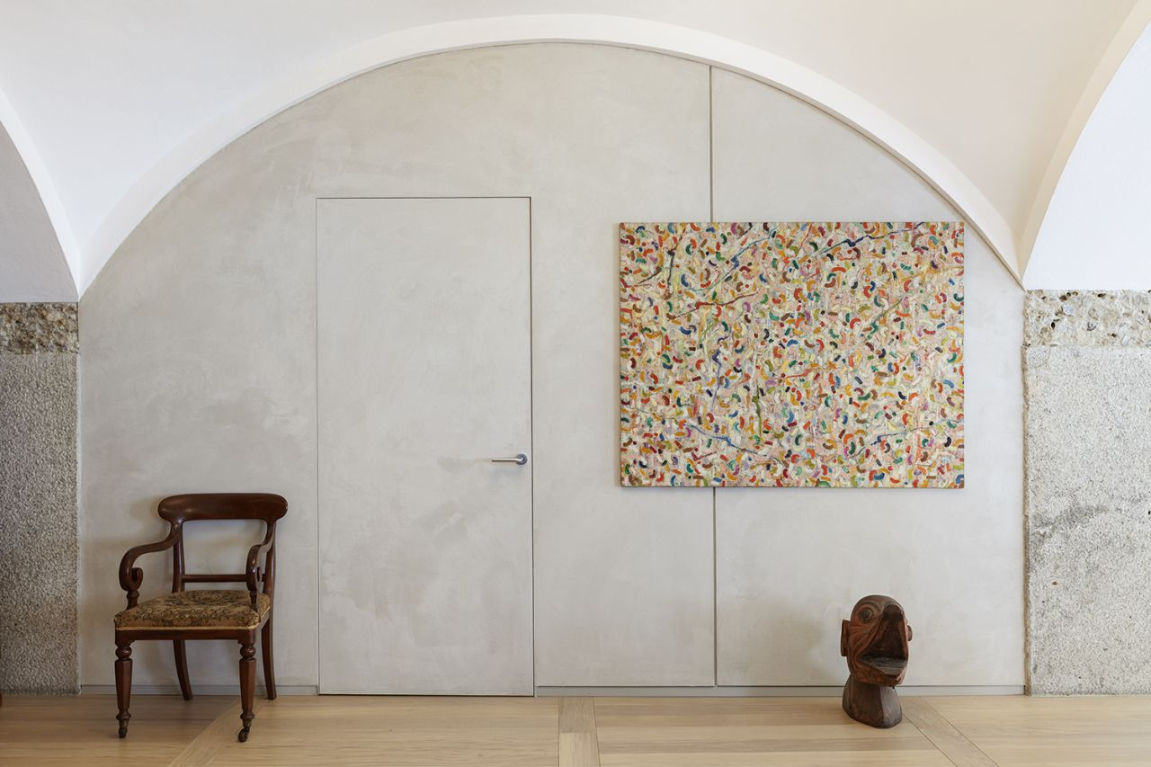 Doors blend almost seamlessly with the rest of the wall