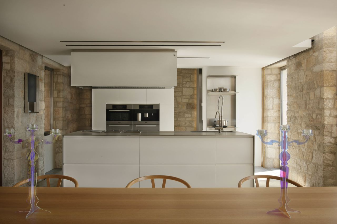 Bespoke kitchen, appliances by Miele, kitchen hood by Boffi