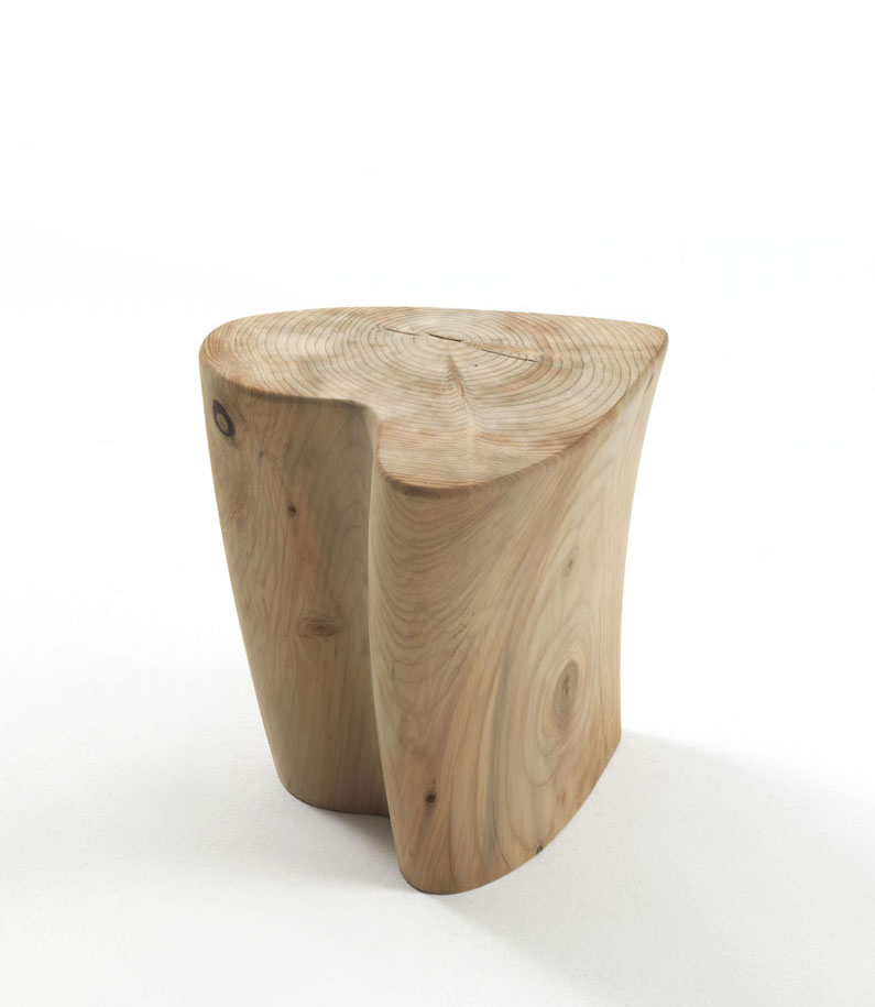 Sgabello One Love is a sculptural stool, inspired by the natural world. Free-standing structure, which is, in fact, a scented cedar tree stump. Sgabello One Love is by the design couple Gianni...