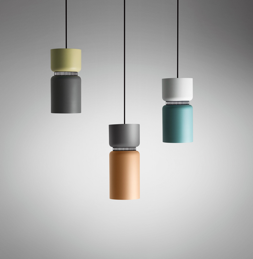 Aspen is a new line of lamps, designed by Werner Aisslinger. Its aesthetics and the pastel tones of its diffuser are a clear reference to American design of the sixties.