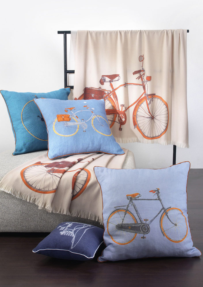velodromo pillows by trussardi home