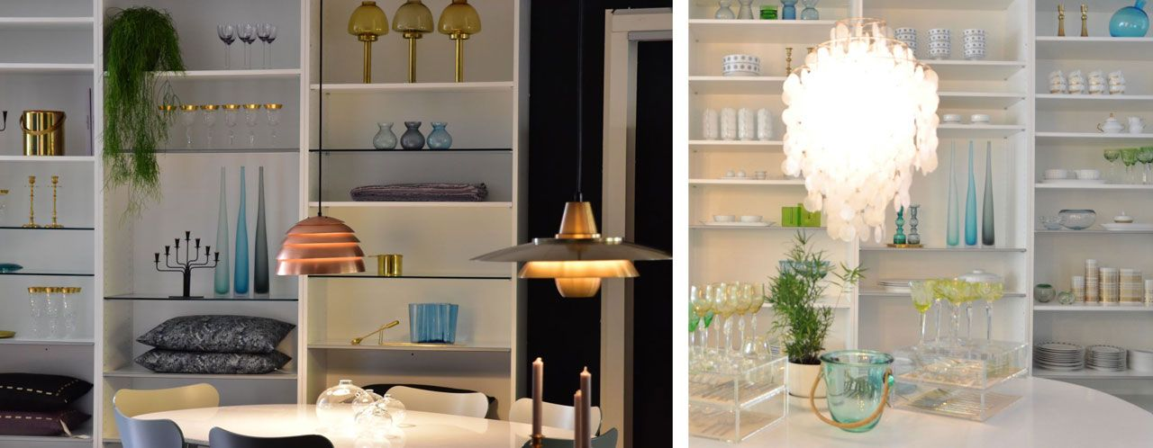 Mid-century modern chandeliers and accessories at Achtgrad, Krefeld