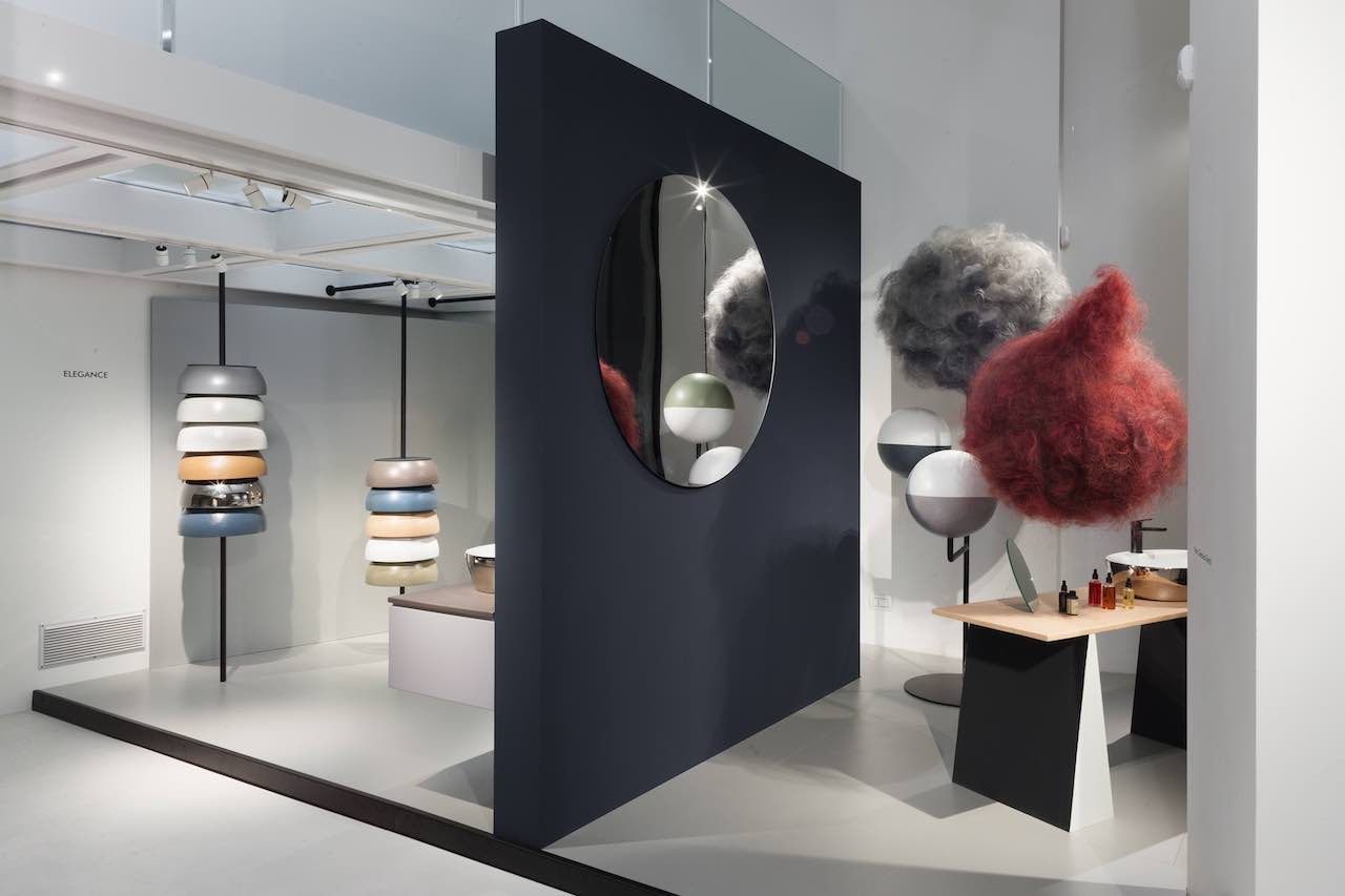 Chroma. A matter of color. An installation designed and curated by Diego Grandi for the showroom Azzurra Milano in collaboration with Davines