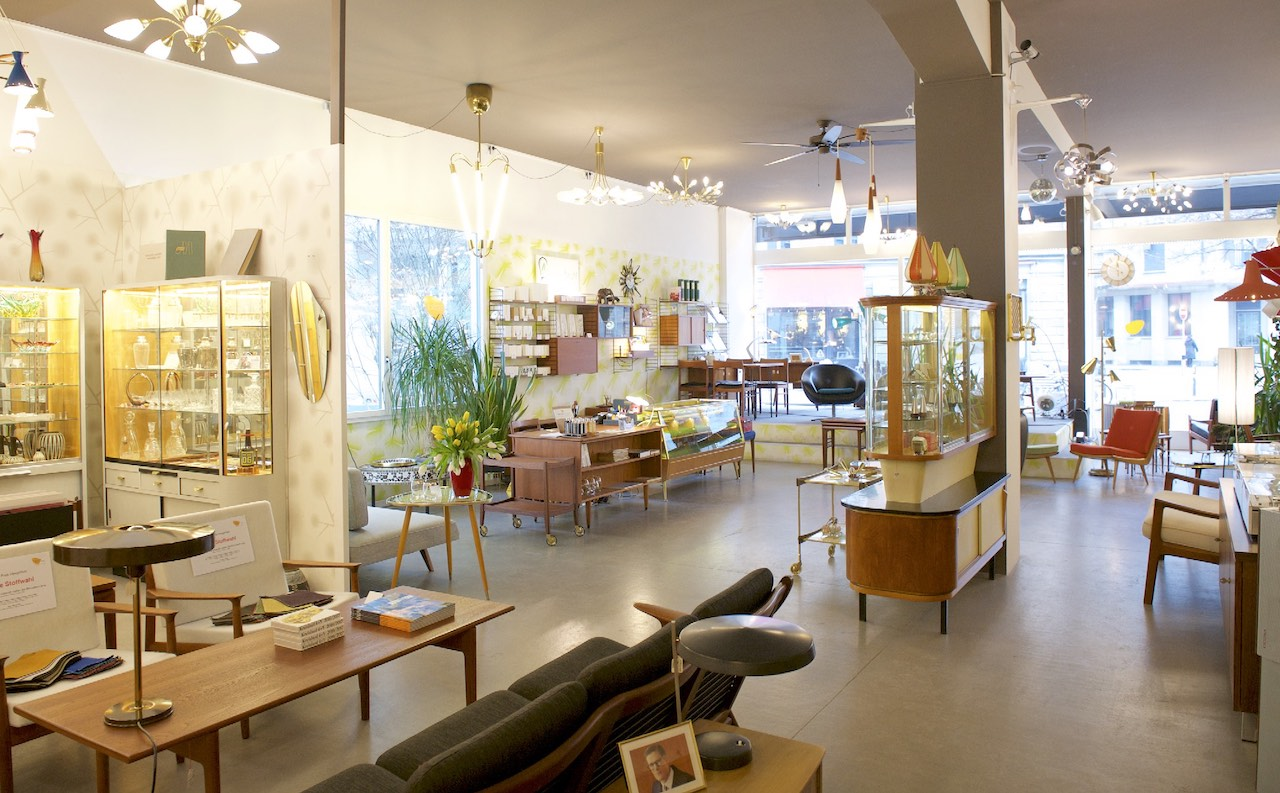 The open-plan space of Bliss modern antiques in Zurich Werd