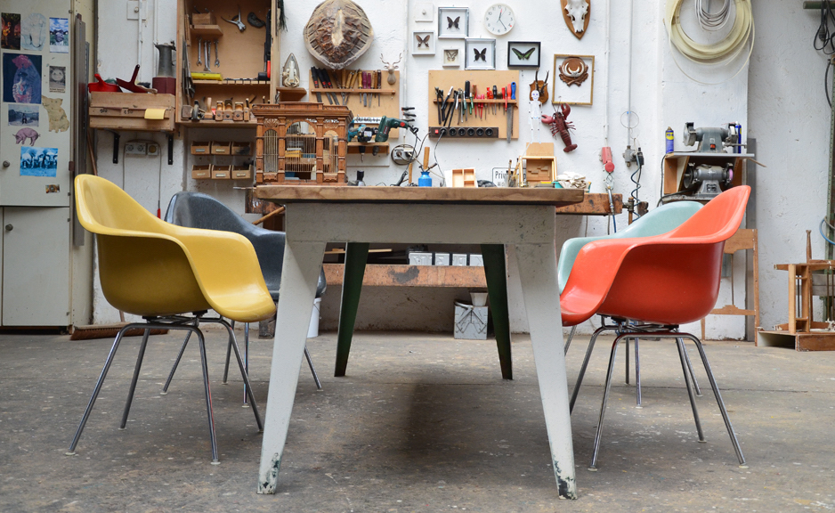 The Eames Plastic chair from the '50s still is still produced by Vitra