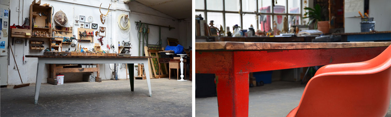 The industrial tables made by Boucherie, Cologne