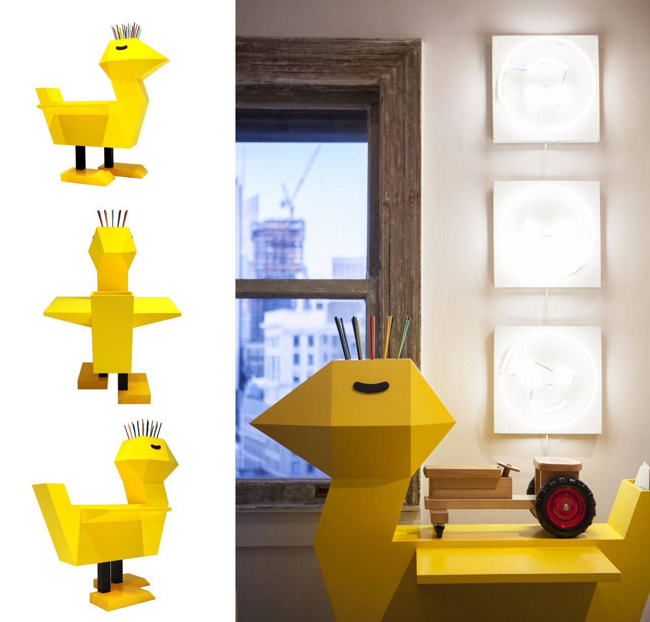 Chicken Desk by Kinder Modern, design Guillaumit