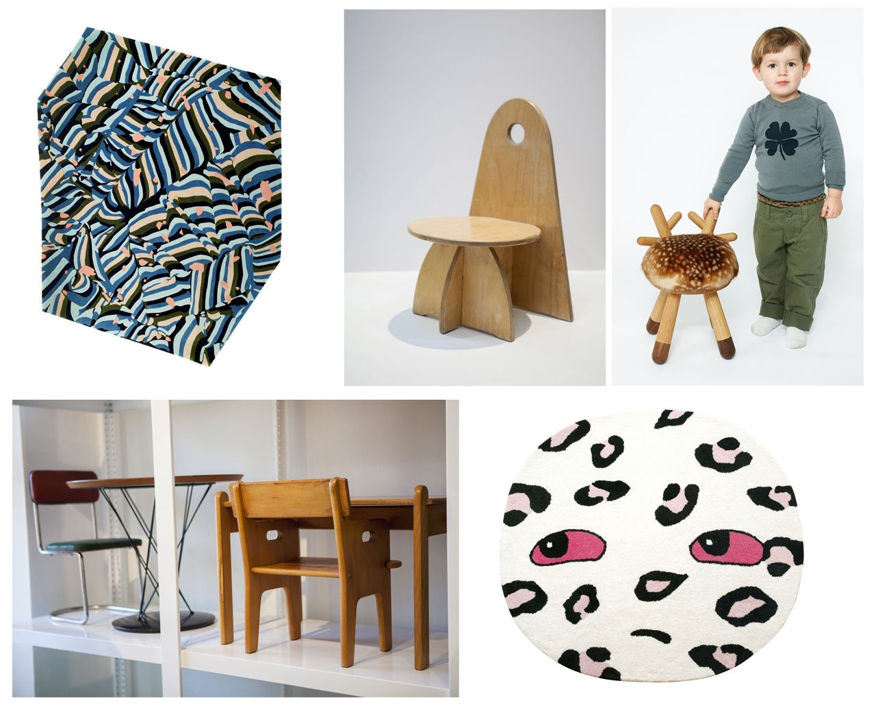 A small selection of the many pieces by Kinder Modern, New York