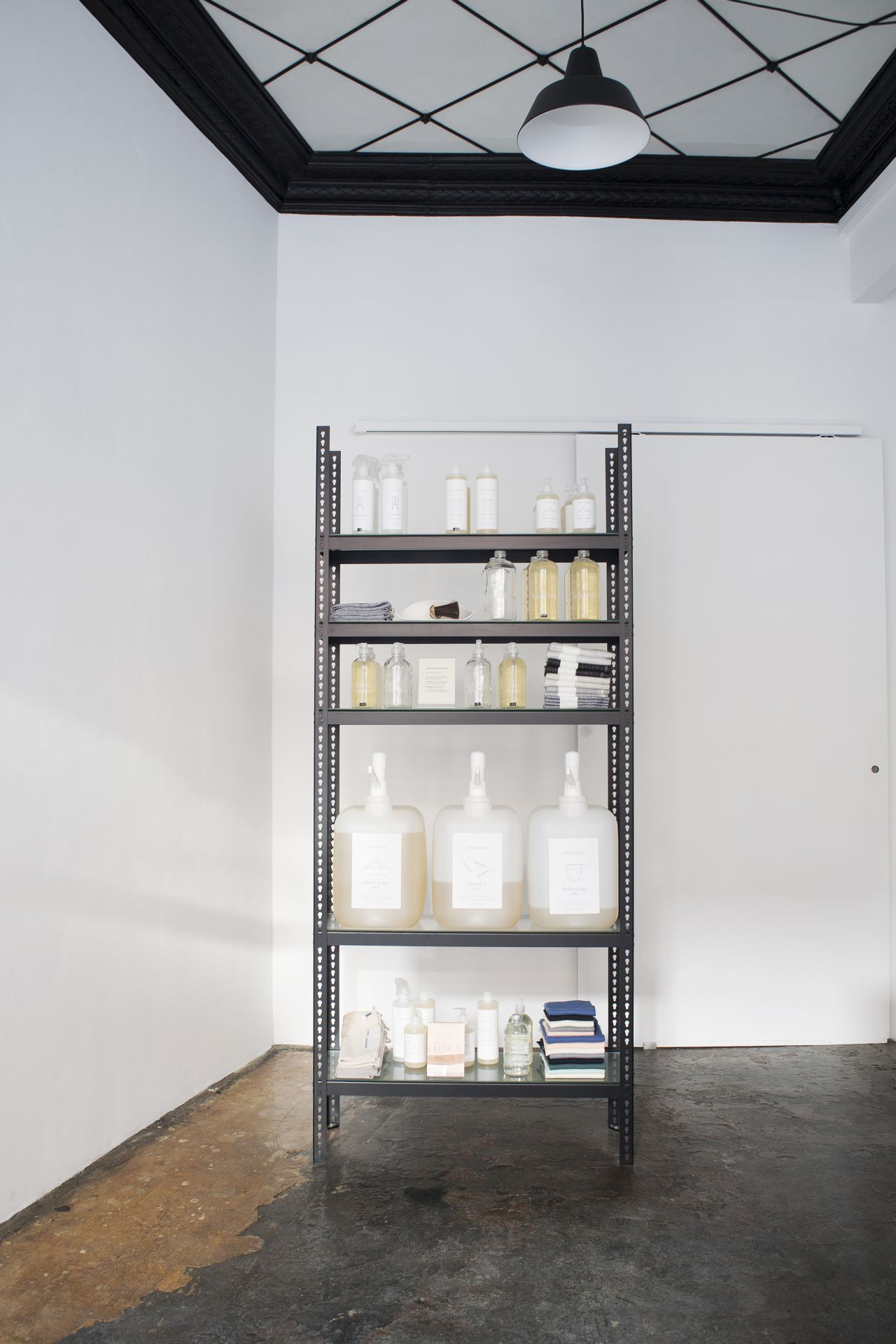 In the store, a shelf with home accessories.