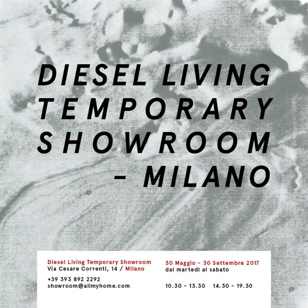 Diesel Living temporary showroom Milano