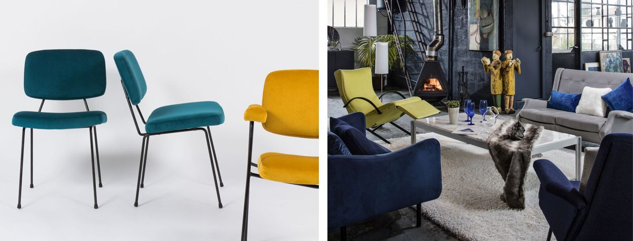 Chairs by Pierre Paulin for Thonet, armchair and sofa by Claude Vassal and a design icon: armchair P40 by Osvaldo Borsani, Tecno