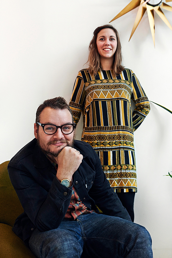 Rik and Ambra Van On, owners of Van OnS vintage store