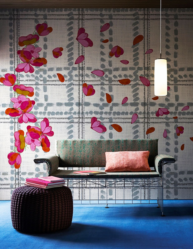 scottish blumen wallpaper by wall&decò