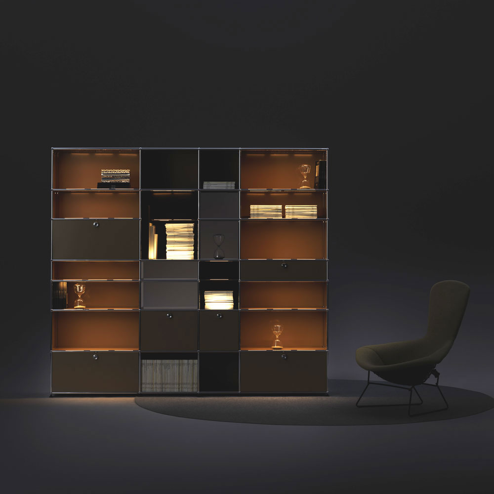 haller e bookcase by usm