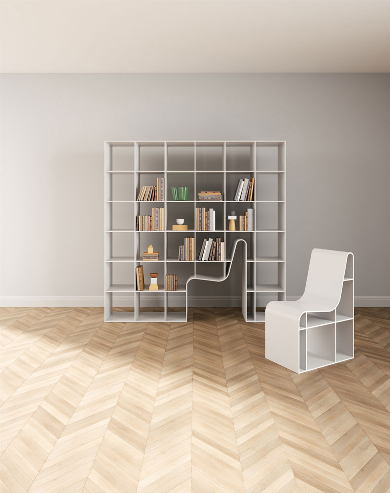 sedia bookchair by alias