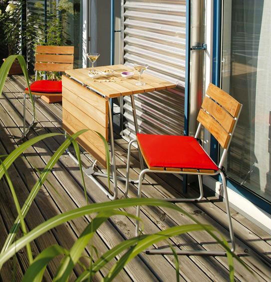 balcony chair by weishaupl