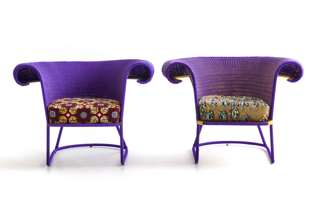Seku armchair, M'Afrique collection, design Sebastian Herkner, Moroso 2018