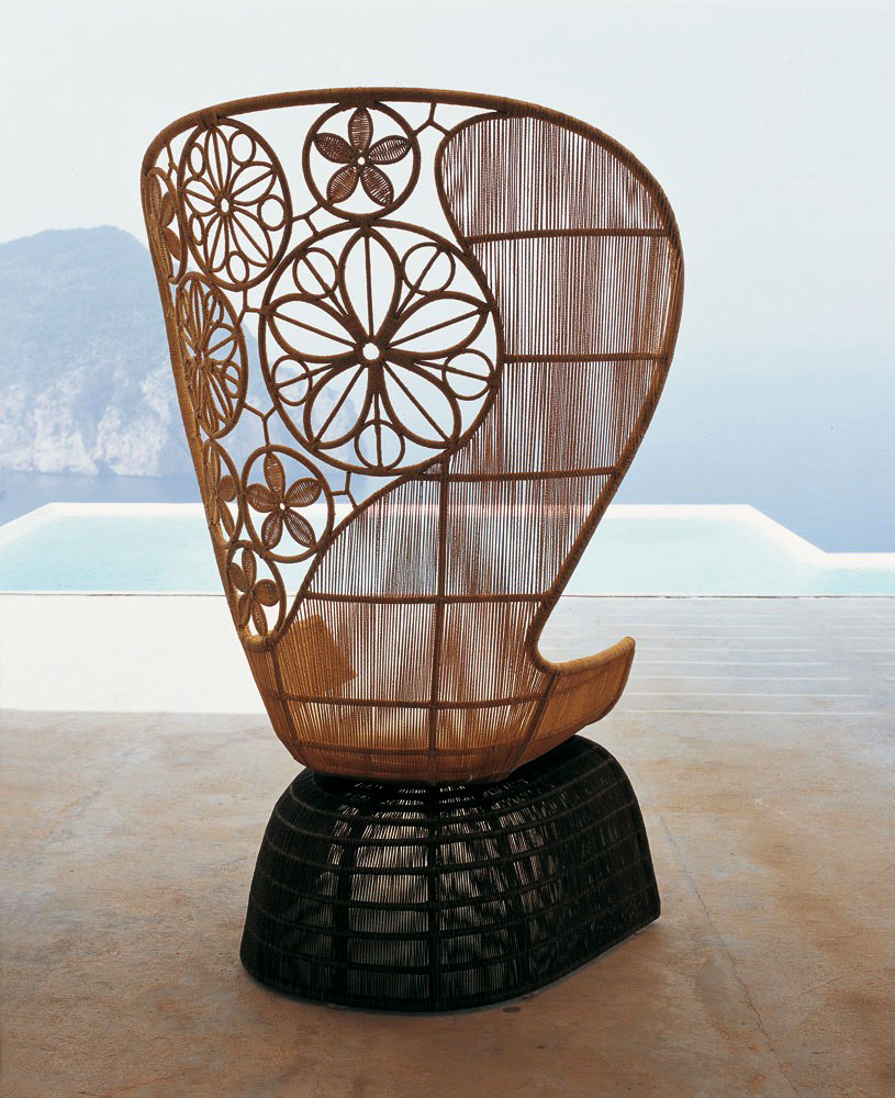 crinoline armchair by b&b italia