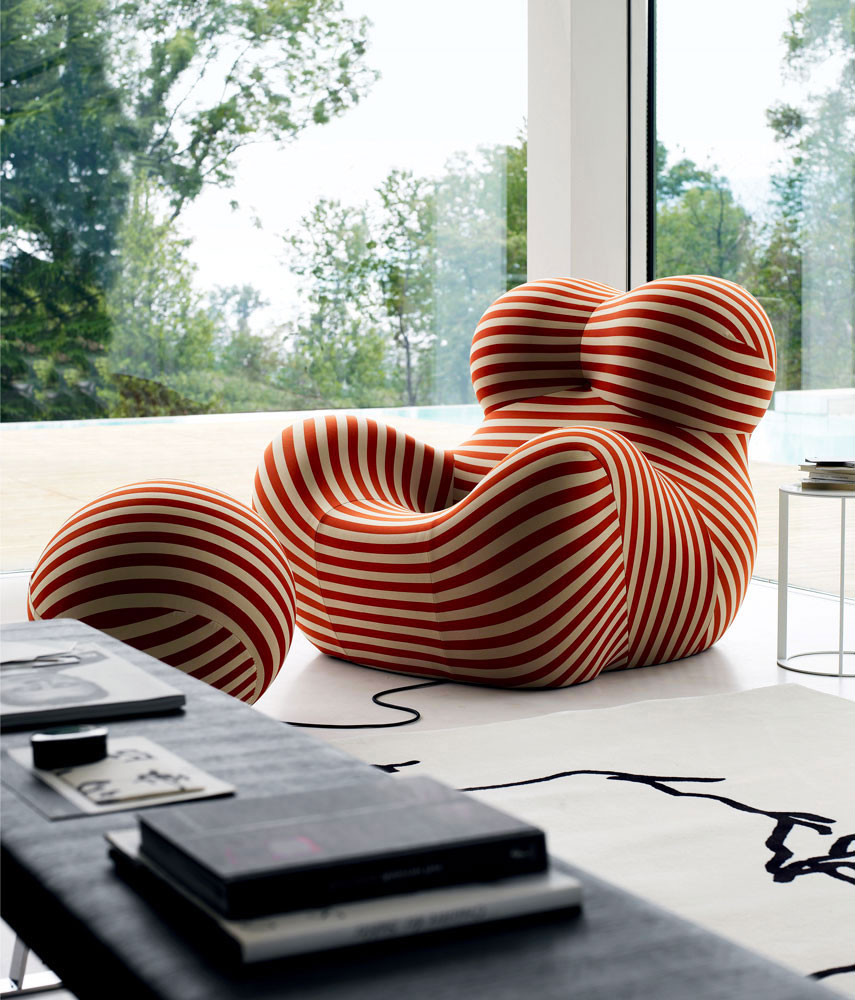 up5 armchair by b&b italia
