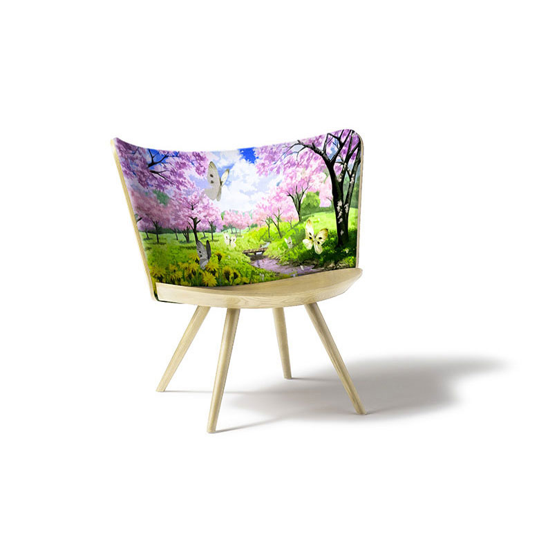 embroidery armchair by cappellini