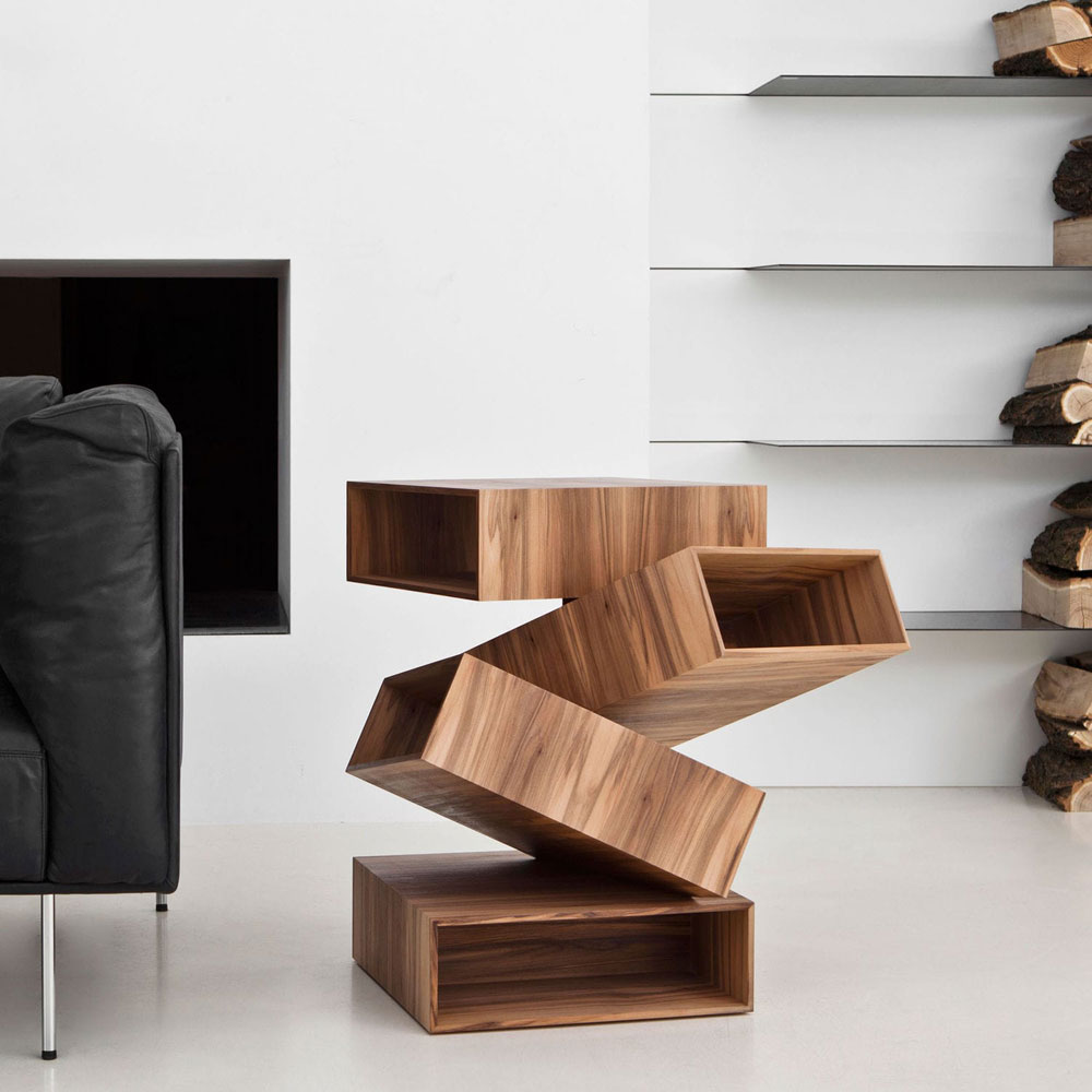 balancing boxes small table by porro