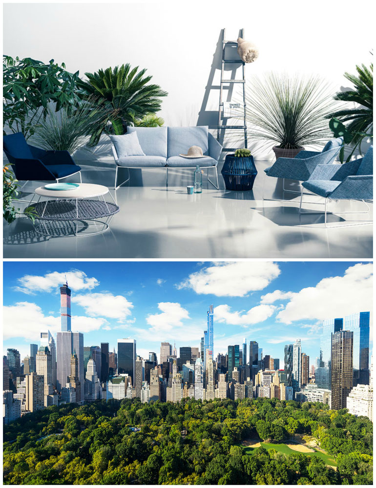 divano new york outdoor by saba italia