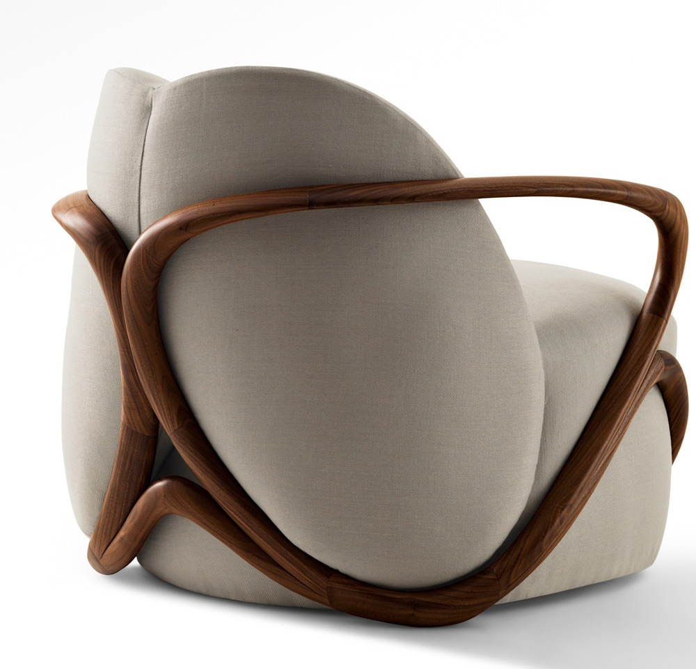 hug armchair by giorgetti