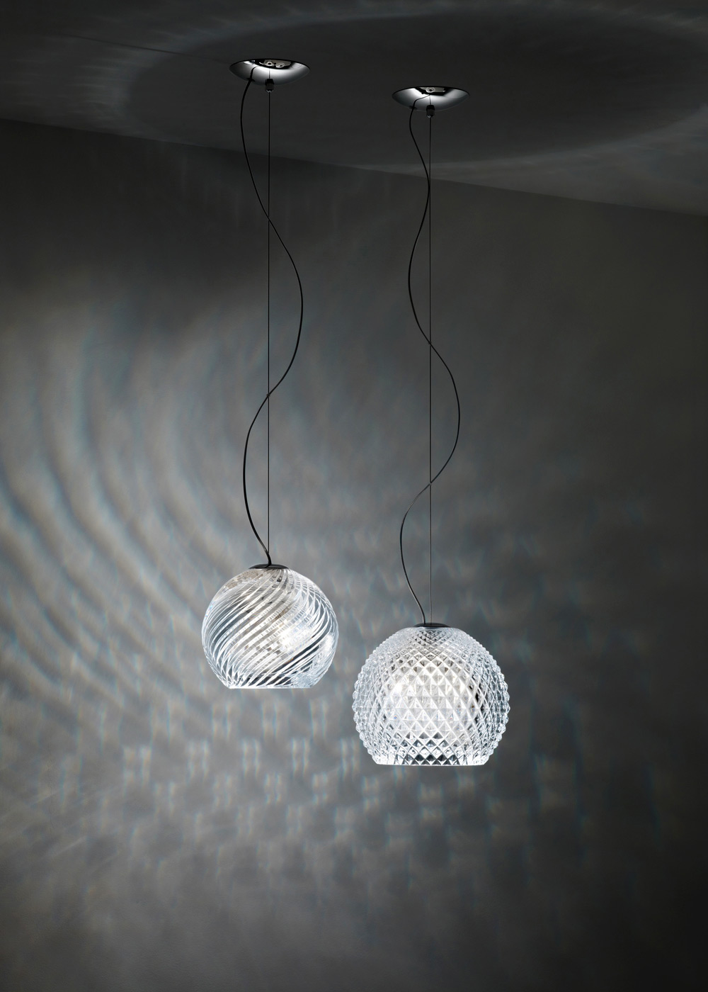 Diamond-Swirl Lamp, Bridgewell Consulting LTD, Fabbian, 2008