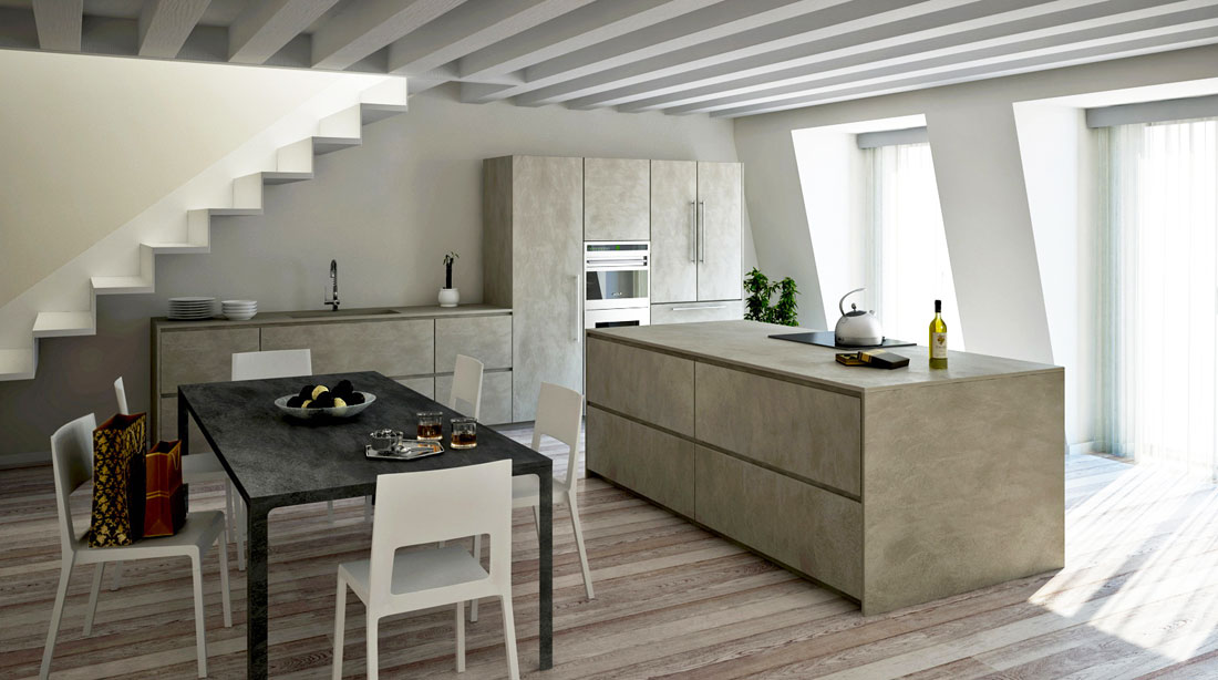 twenty cemento kitchen modulnova