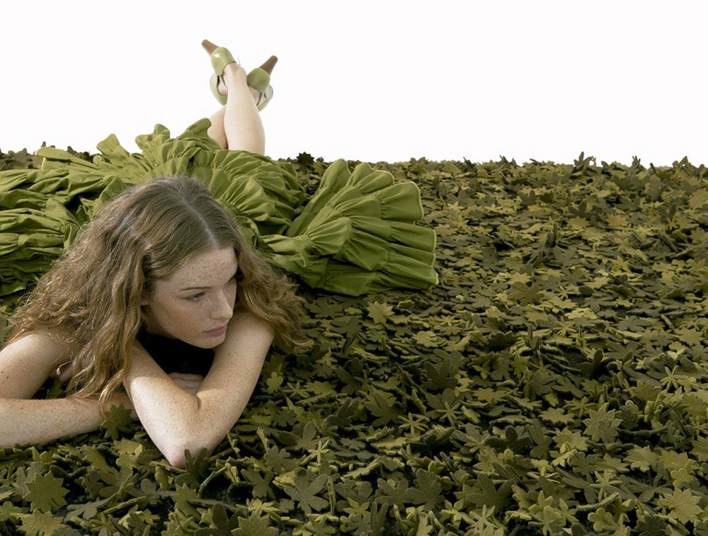 Little field of flowers greens Carpet, Tord Boontje, Nanimarquina, 2006