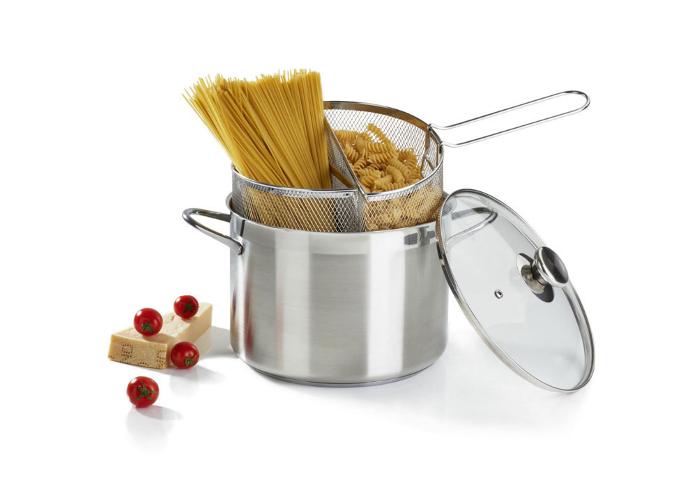 Double basket spaghetti pot by barazzoni