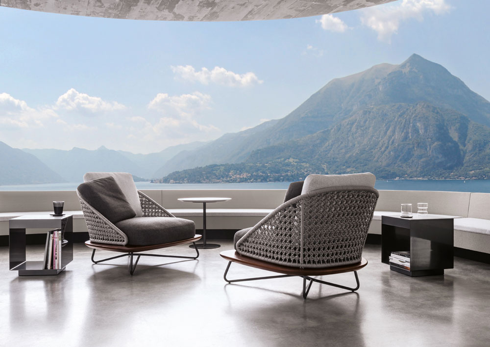 rivera armchair by minotti