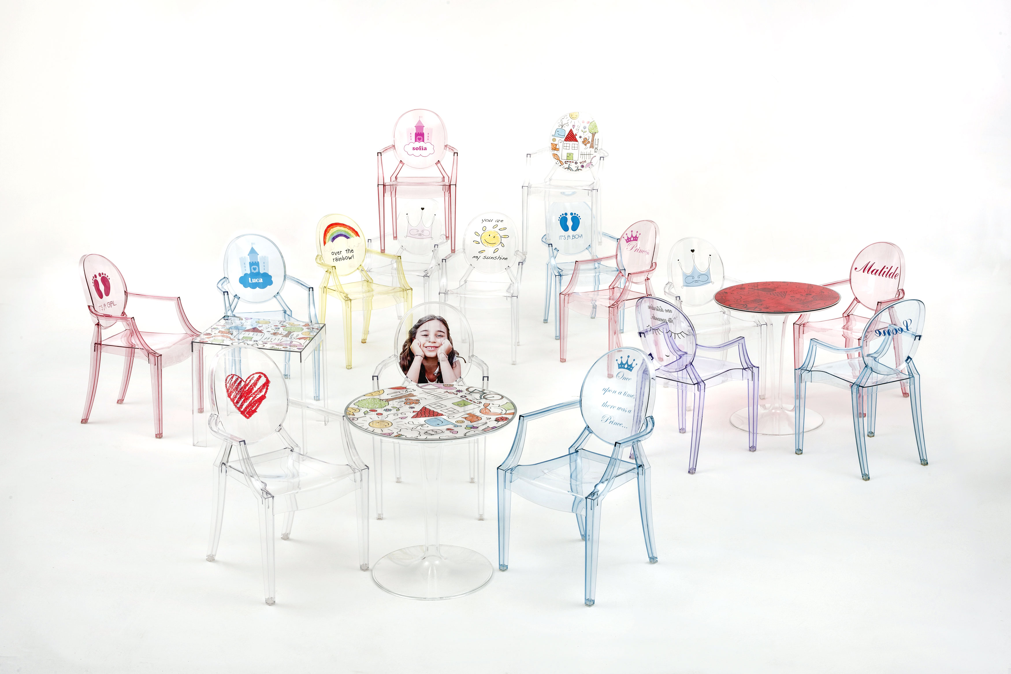 Lou Lou Ghost chair, design Philippe Starck, Kartell 2016