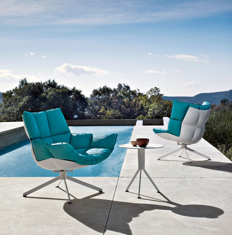 husk small armchair by b&b italia