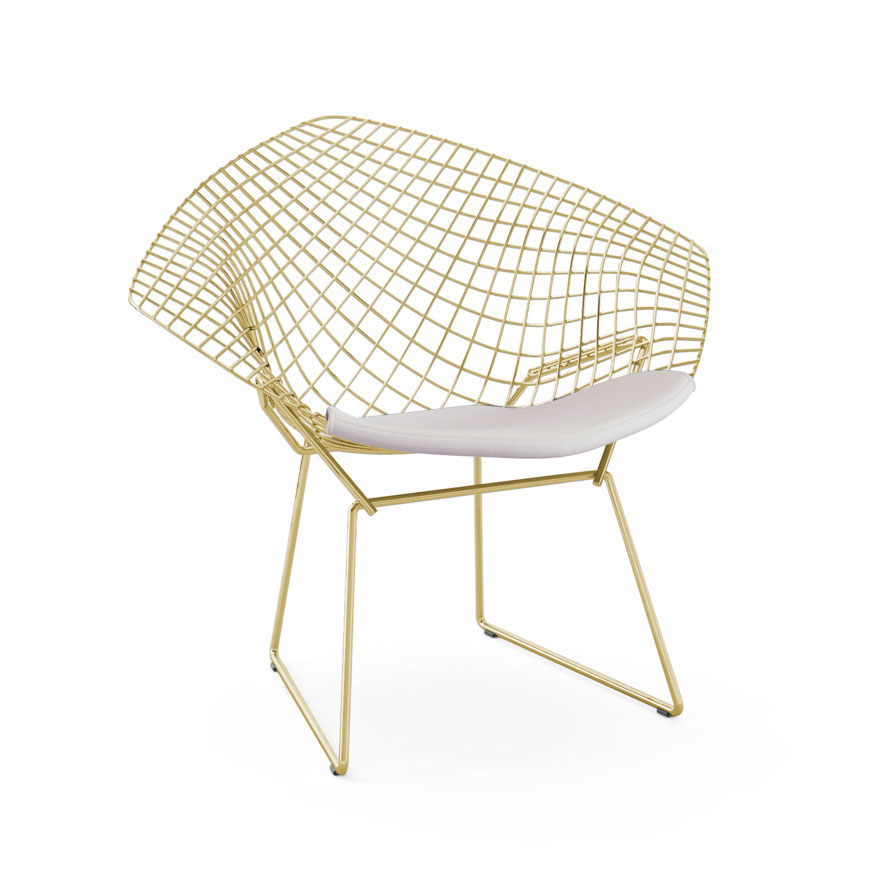 bertoia gold armchair by knoll
