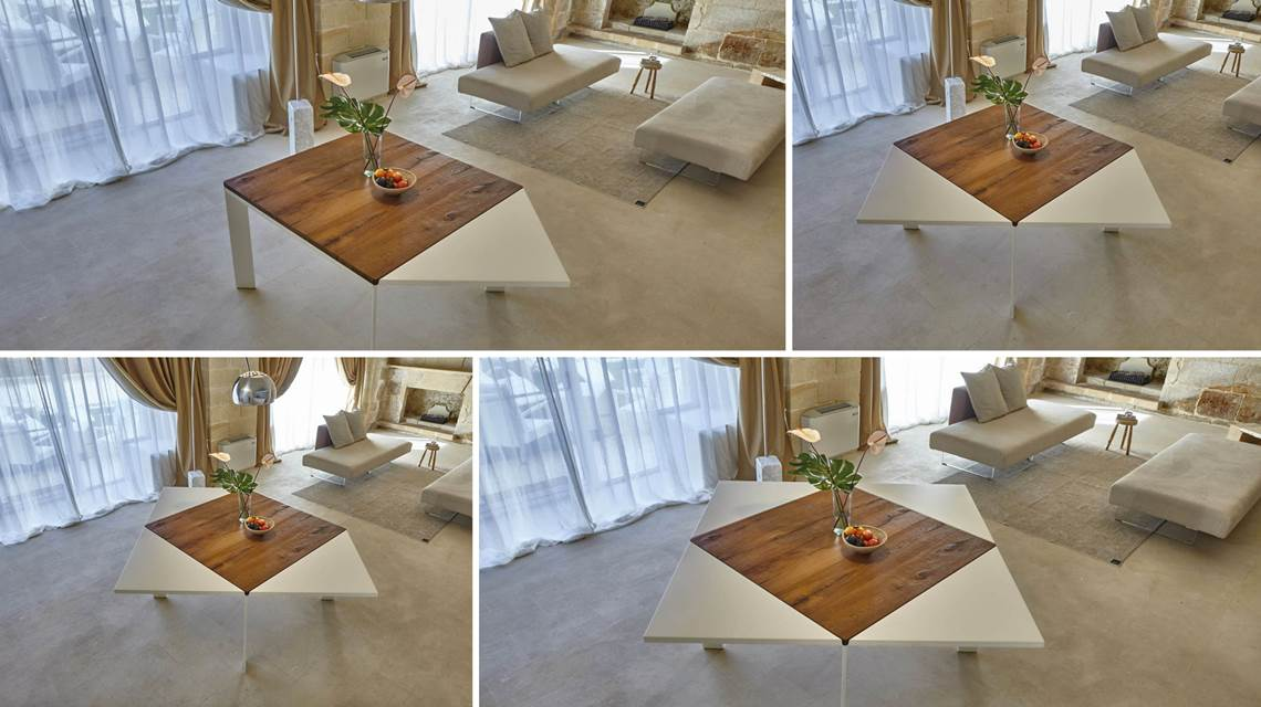 Table Loto Allungabile, design Franco Lago, Lago